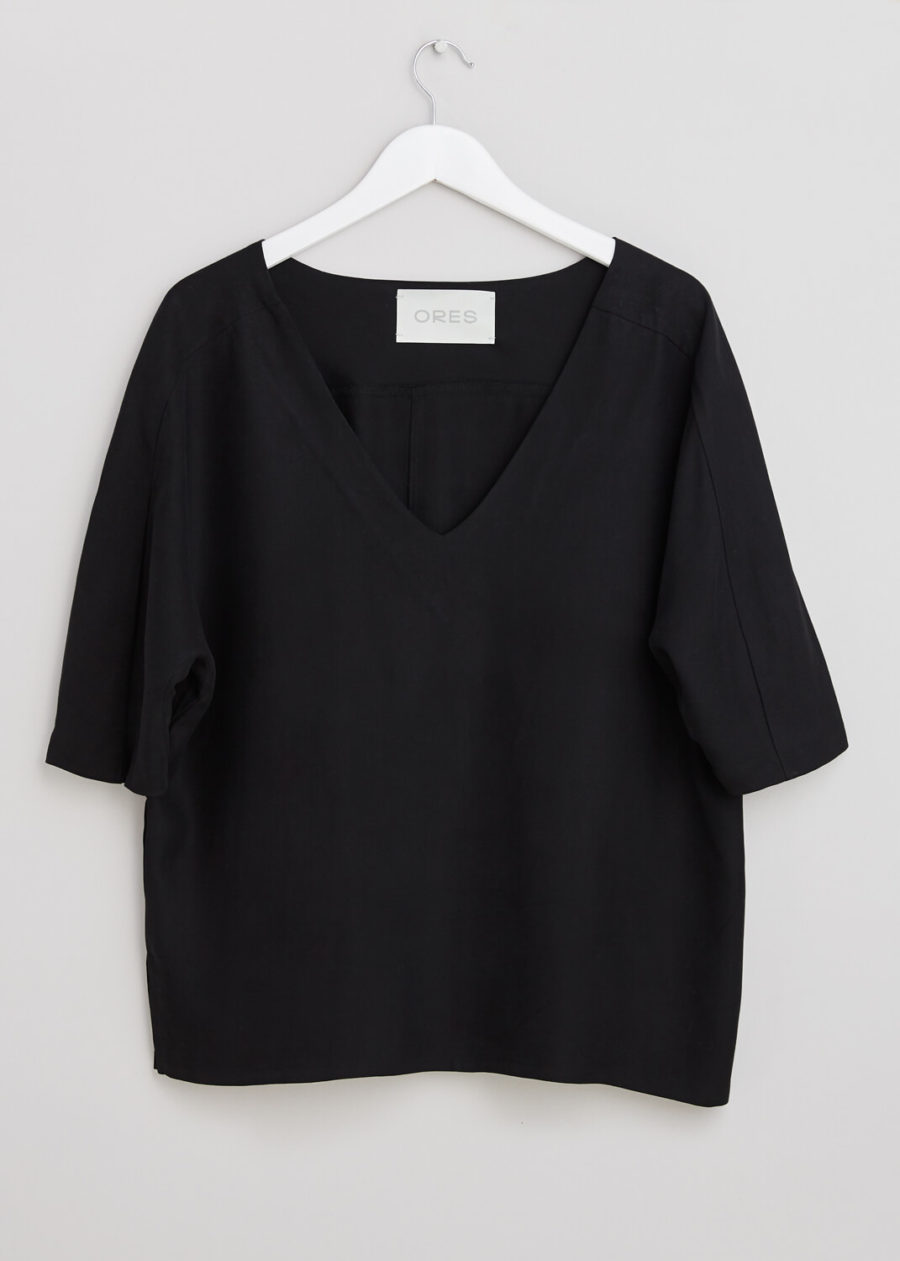 ORES - Black Silk Blouse