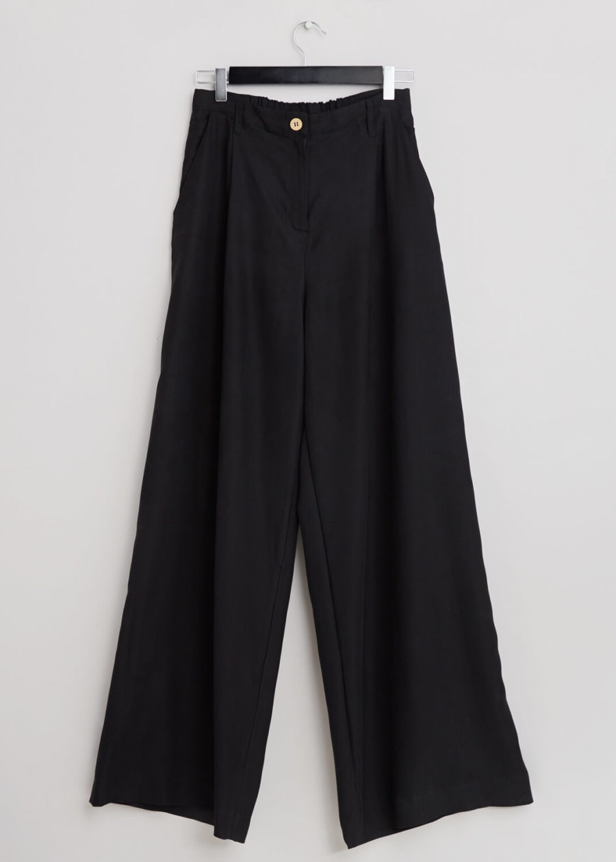 ORES - Black Silk Trousers