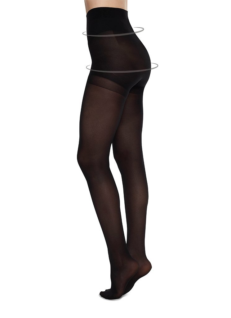 Swedish Stockings - Anna Control Top Tights, Black