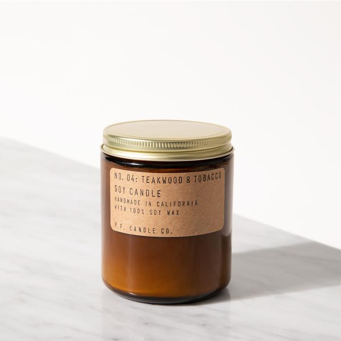P.F. Candle Co. - Teakwood & Tobacco Soy Candle