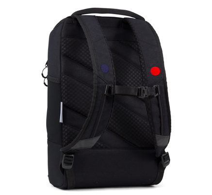 Pinqponq - Cubic Medium Backpack, Licorice Black