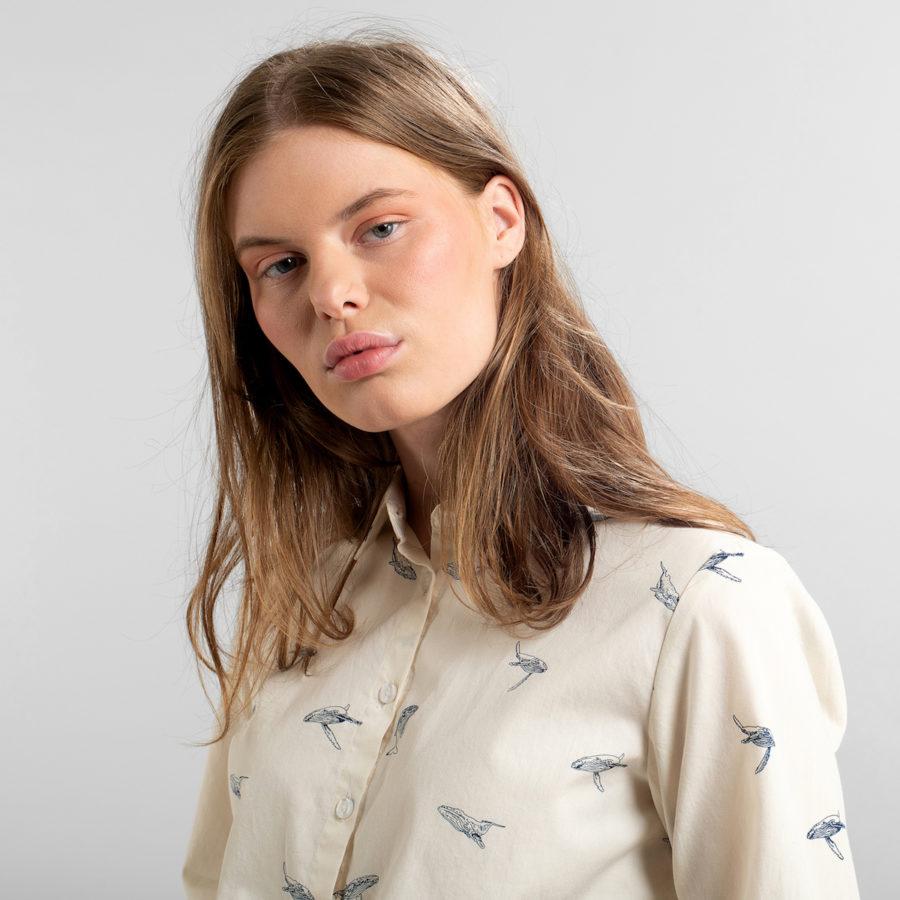 Dedicated - Whales Tencel Shirt