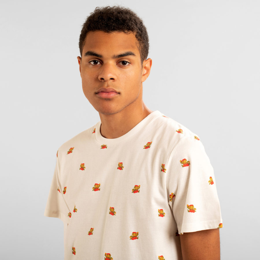 Dedicated - Super Mario Pattern T-Shirt