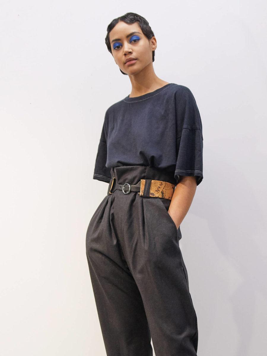 ORES - Wool Silk Tee, Black