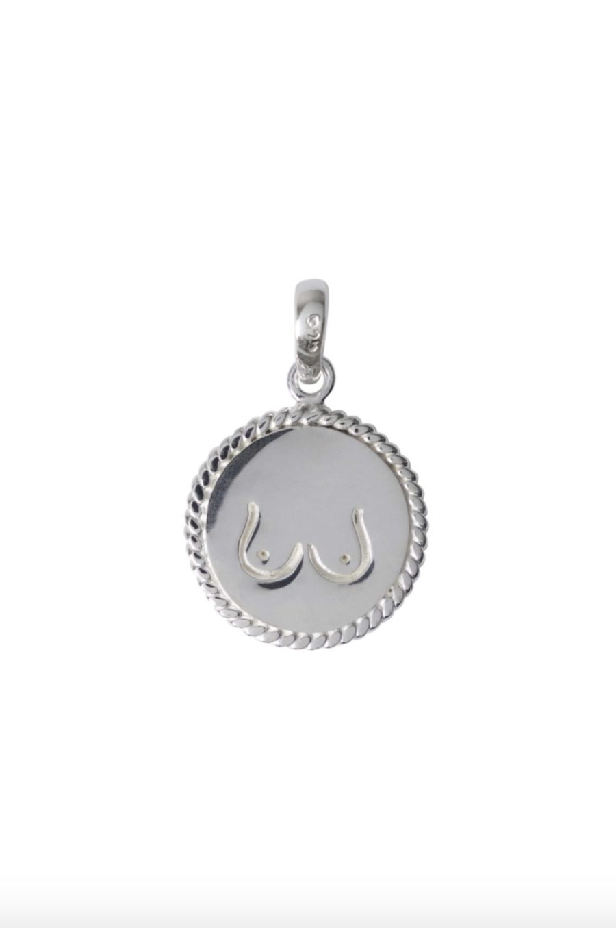 T.I.T.S. - Two Sides Pendant, Silver