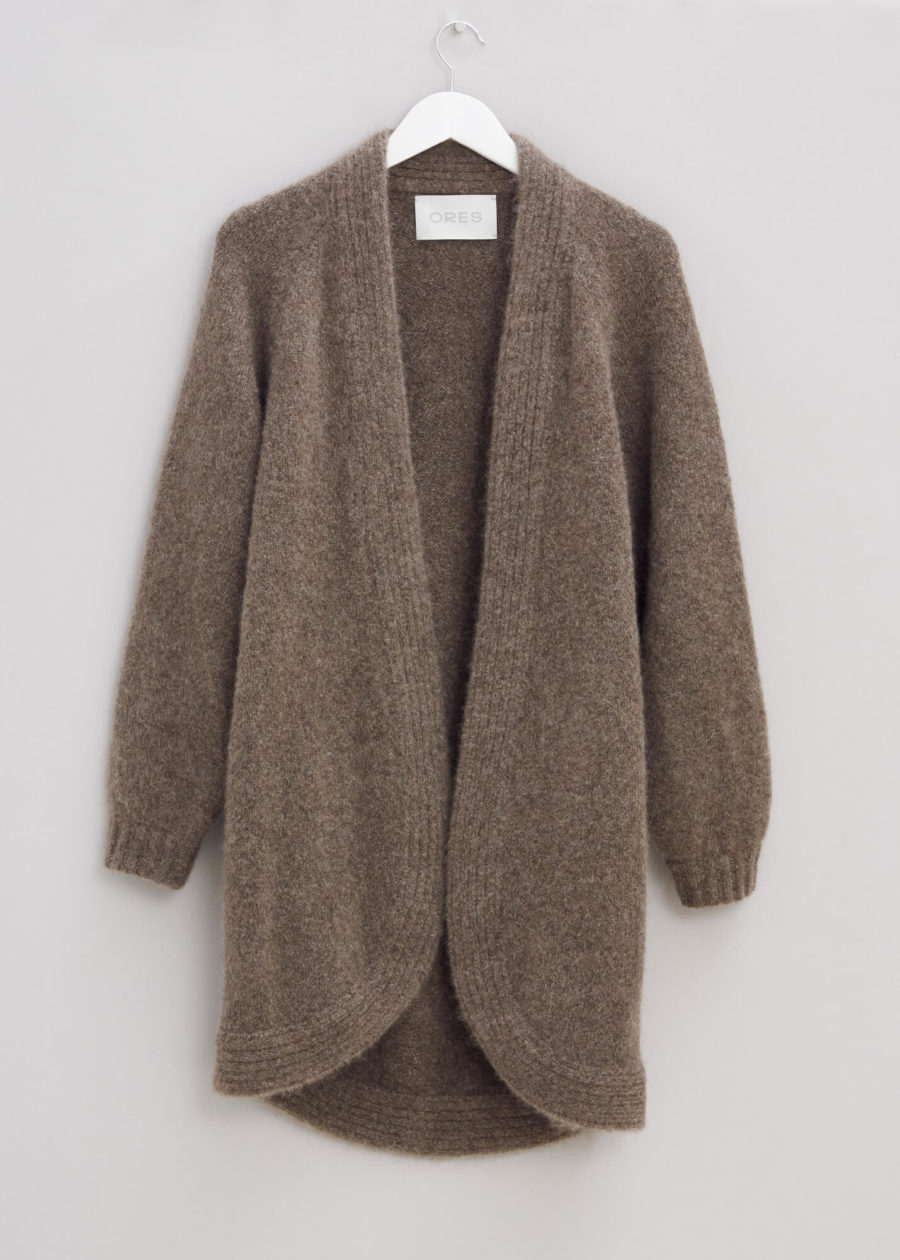 ORES - Light Chunky Lux Cardigan, Brown