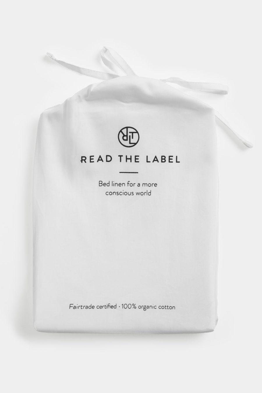 Read The Label - Påslakan, White