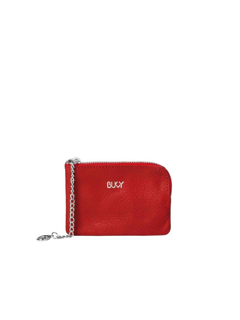 Bukvy - Von Otter Miniplånbok, rött läder