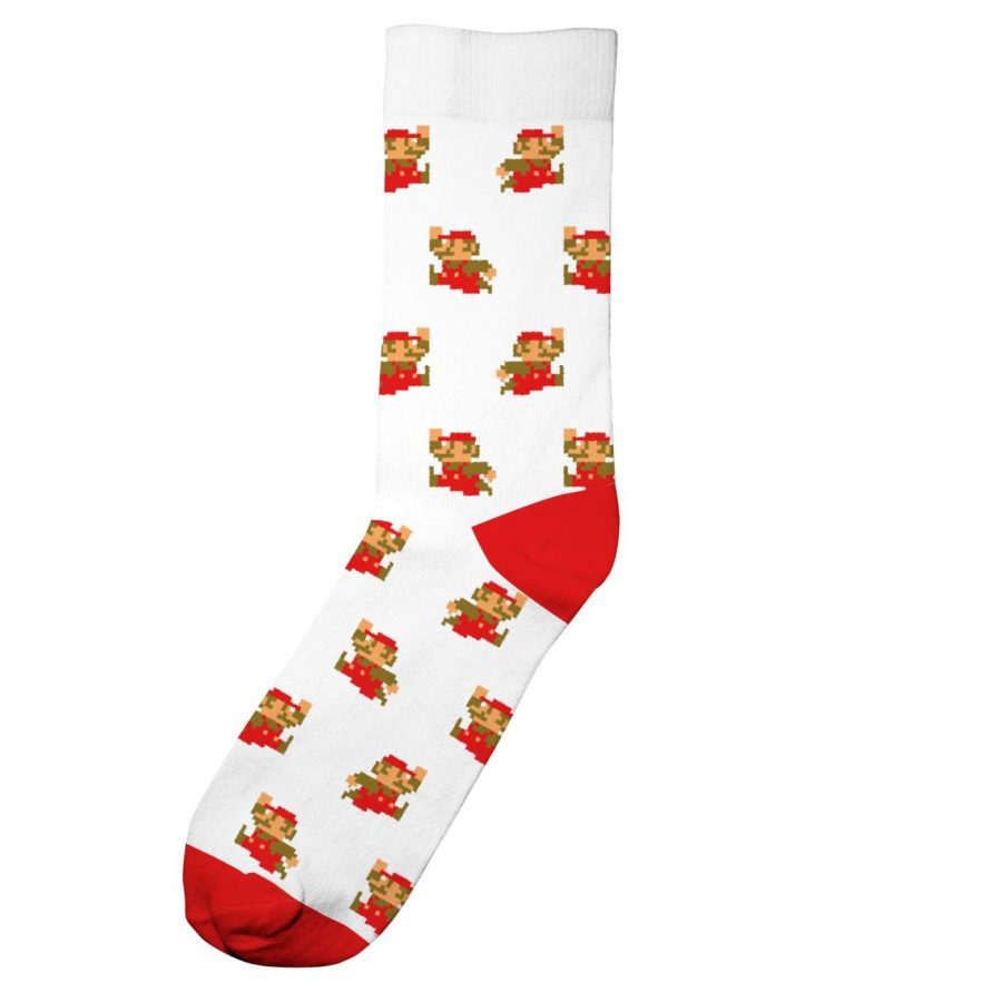 Dedicated - Super Mario White Pattern Socks