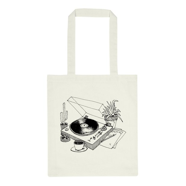 Dedicated - Tote Bag, Coffee Vinyl