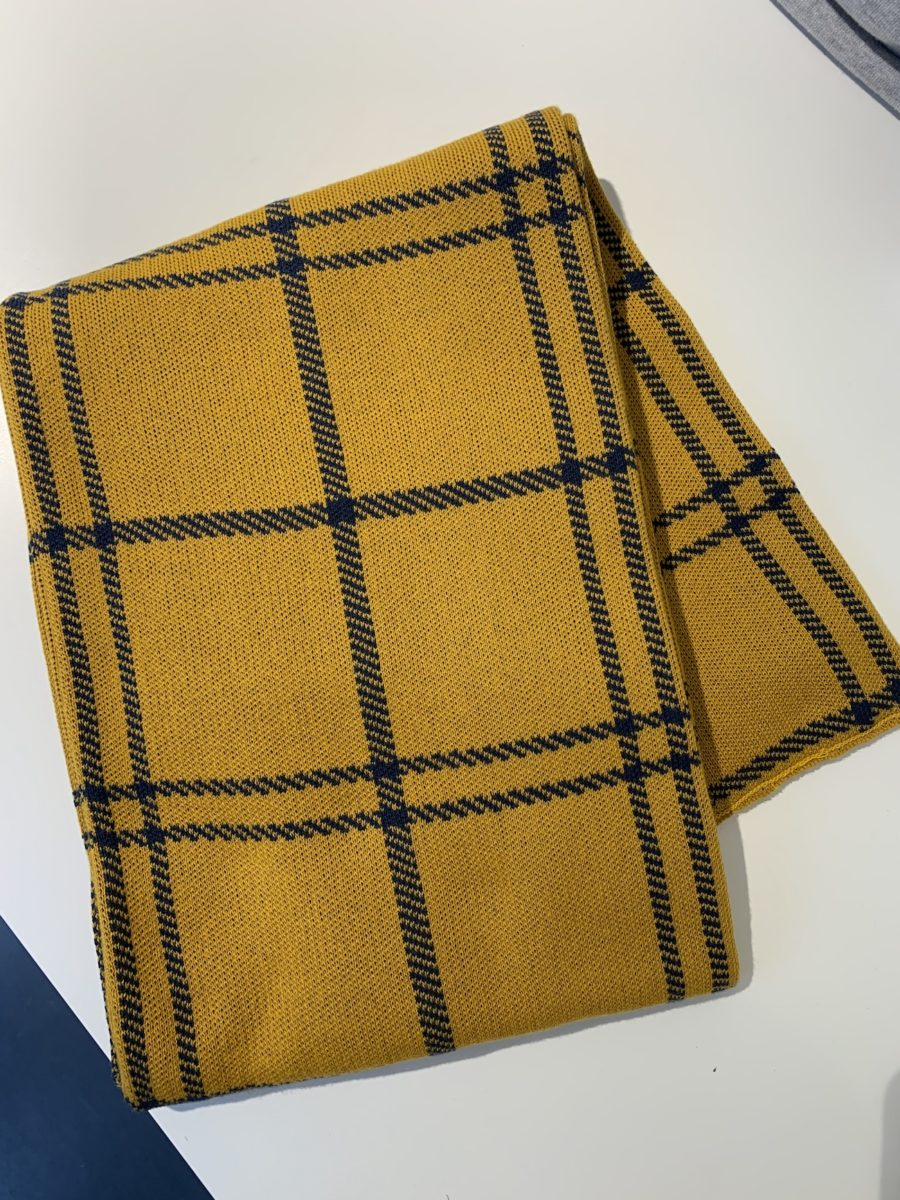 Dedicated - Scarf, Big Check Golden Yellow