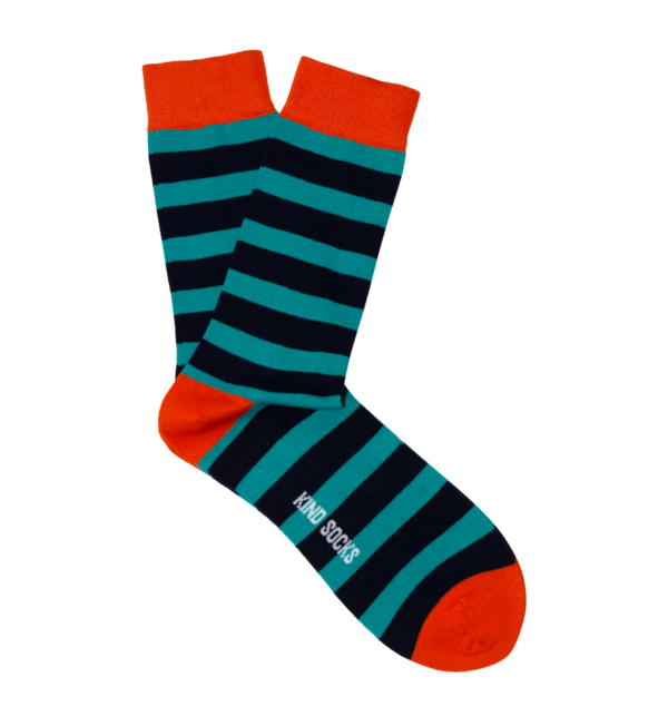 Kind Socks - Stripe Sock Orange