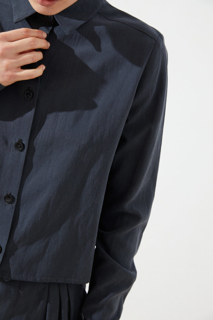 CUS - Segvi Tencel-Linen Shirt, Blue Nights