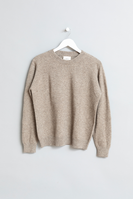Dinadi - O-neck Sweater, Oat Brown