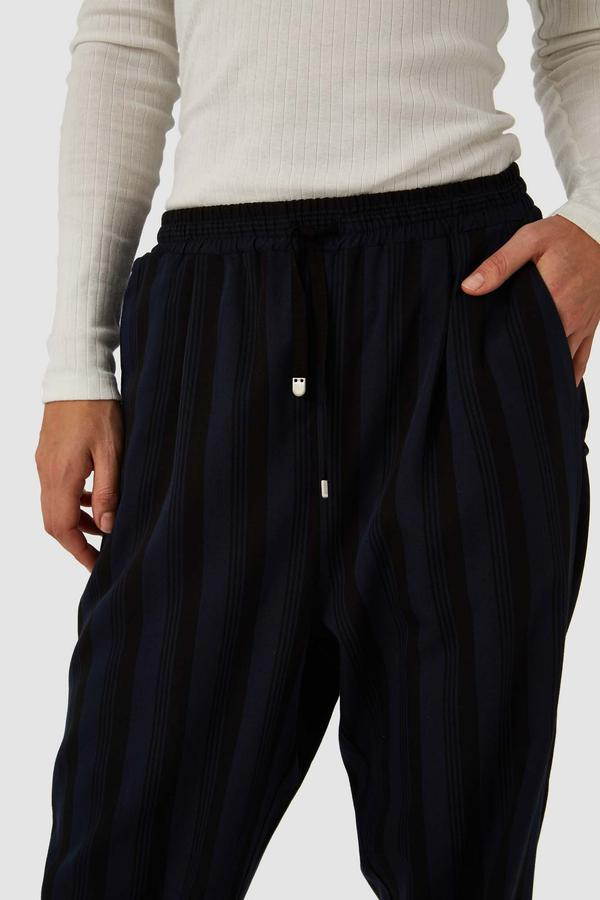 Kings of Indigo - Lourdes Pants, Blue Stripe Tencel