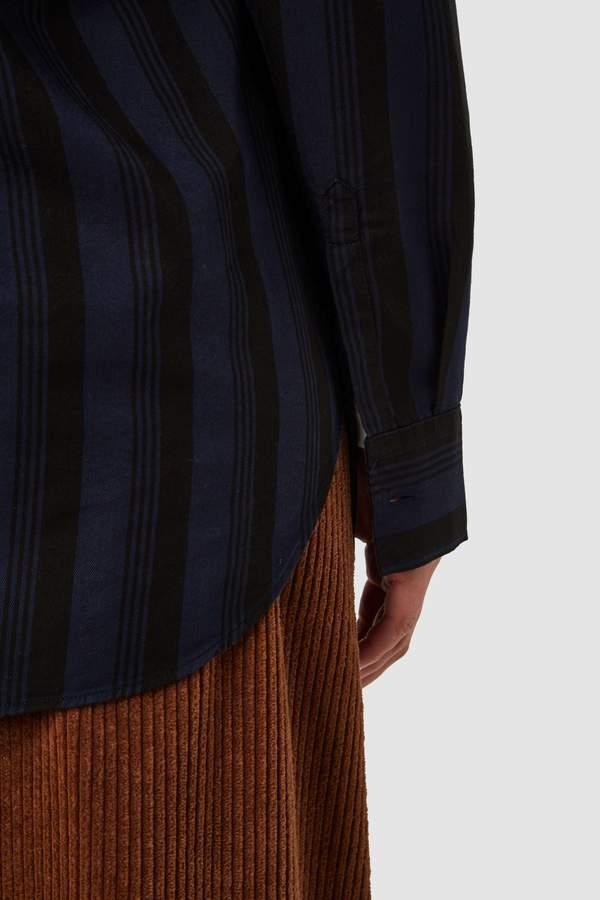 Kings of Indigo - Taja Shirt, Blue Stripe Tencel