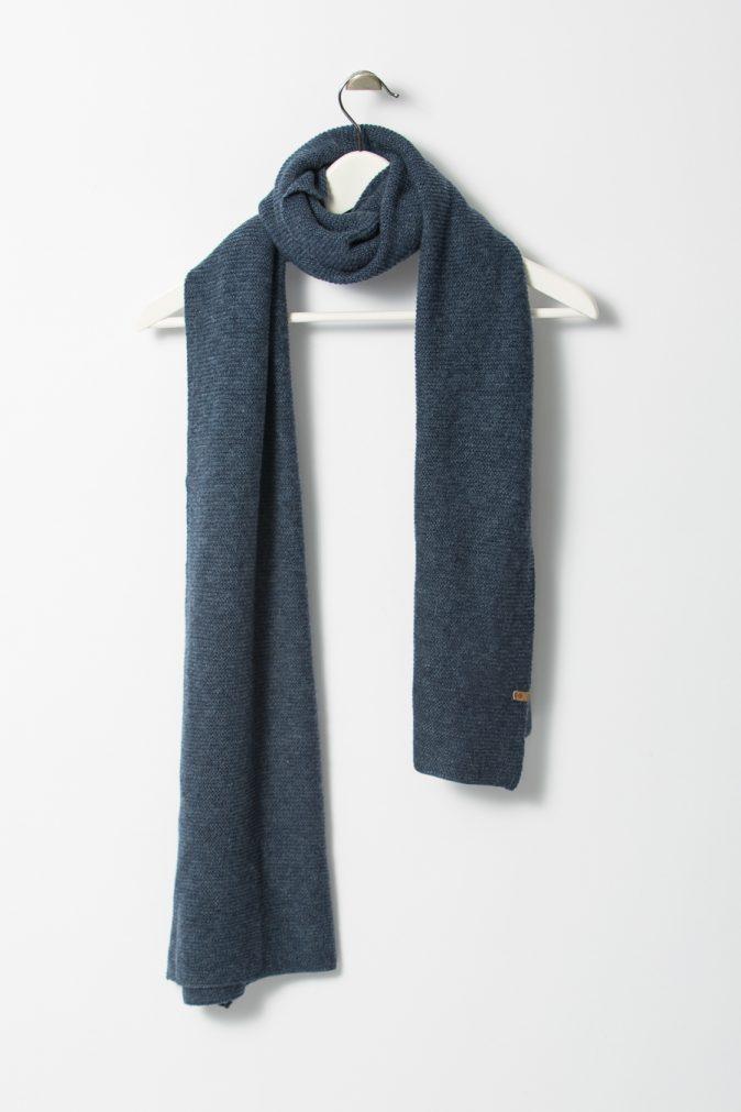 Dinadi - Merino Garter Scarf, Dark Blue