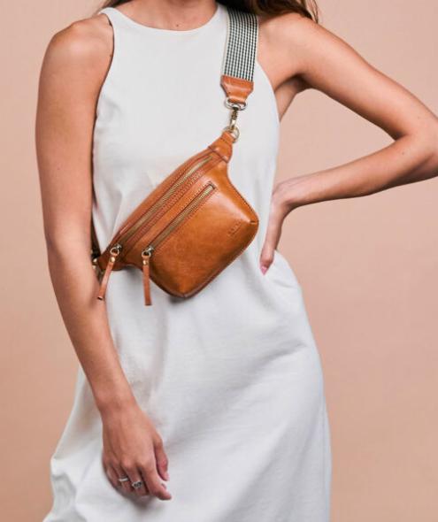 O My Bag - Becks Bum Bag, Cognac Stromboli