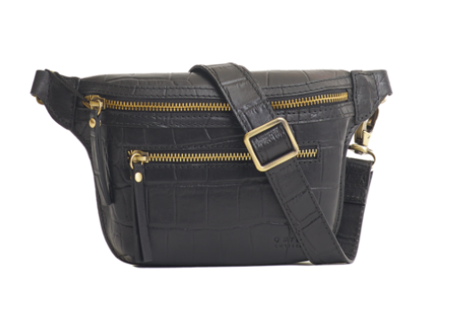 O My Bag - Becks Bum Bag, Black Croco