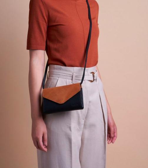 O My Bag - Josephine Bag, Black/Cognac