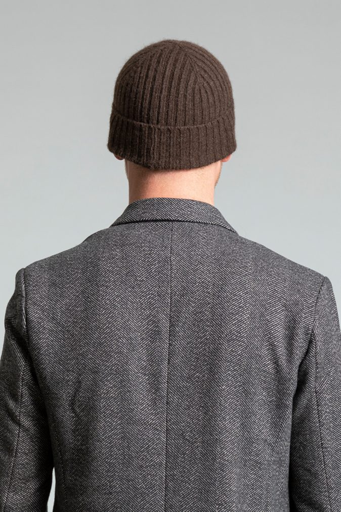 Dinadi - YAK Fitted Rib Hat, Dark Brown