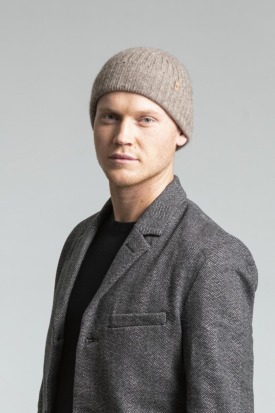 Dinadi - YAK Fitted Rib Hat, Oat Brown