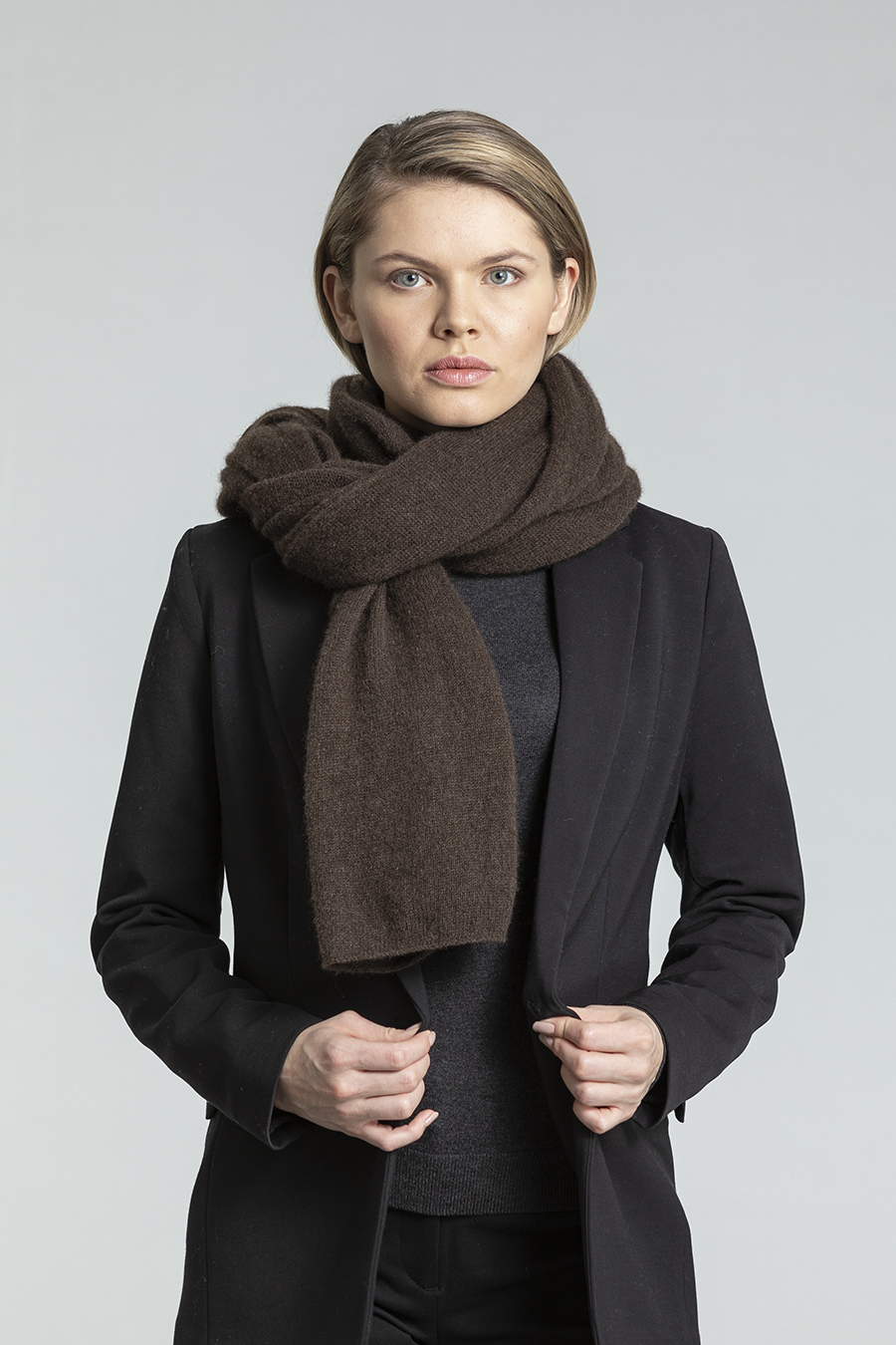 Dinadi - YAK Scarf, Dark Brown