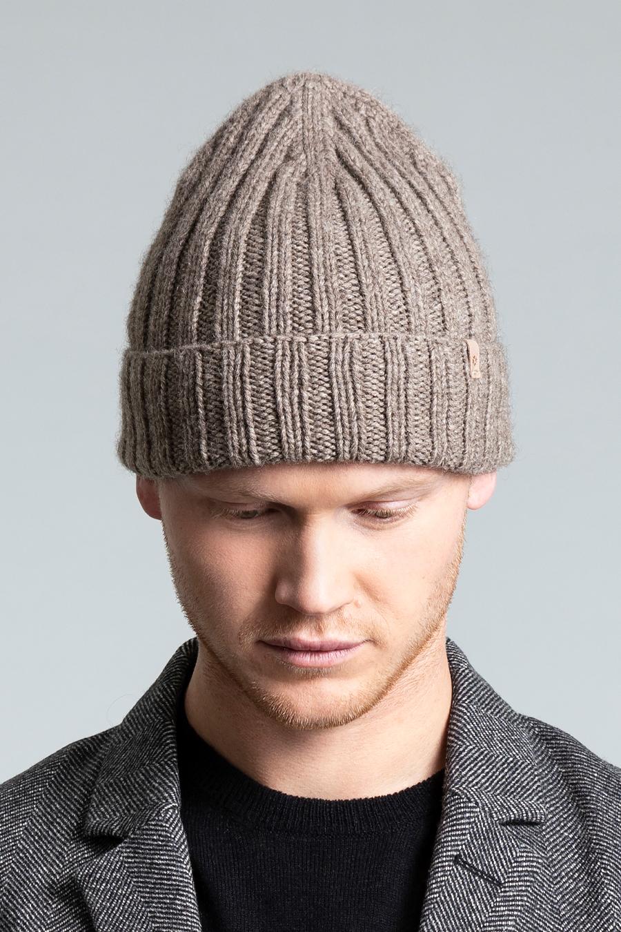 Dinadi - YAK Thick Rib Hat, Oat Brown