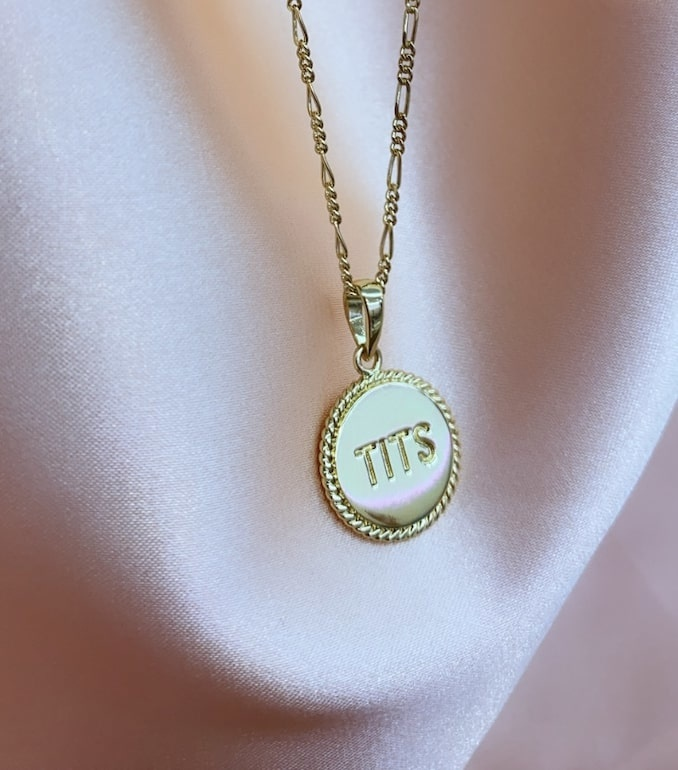 T.I.T.S. - Two Sides Pendant, Gold