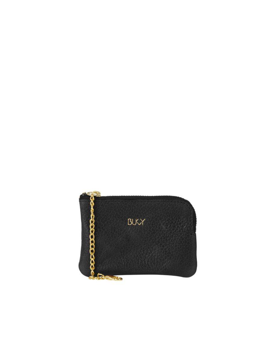 Bukvy - Von Otter Miniplånbok, svart läder