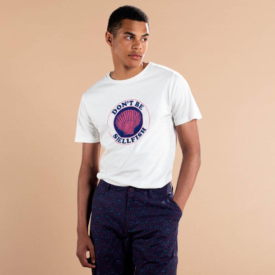Dedicated - Shellfish T-Shirt, Off-White, Herr