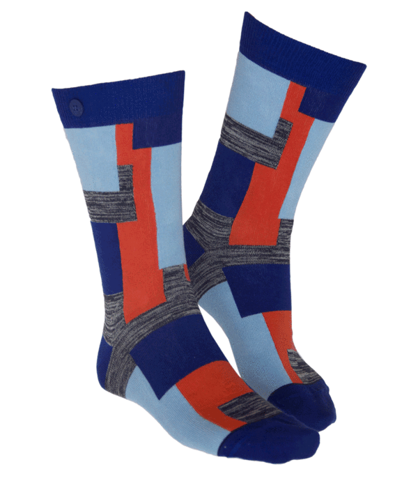 Qnoop - Socks, Camo Soft Blue