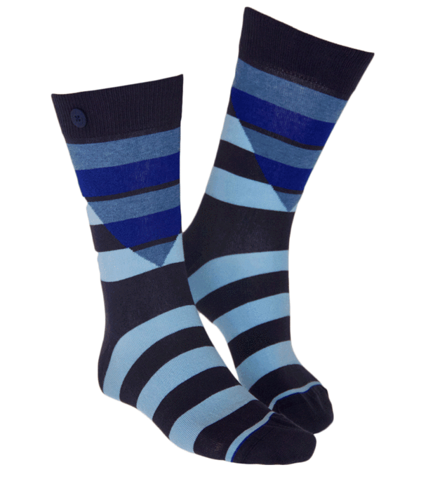Qnoop - Socks, Hockney Soft Blue