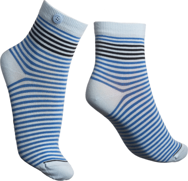 Qnoop - Socks, Chamois Blue