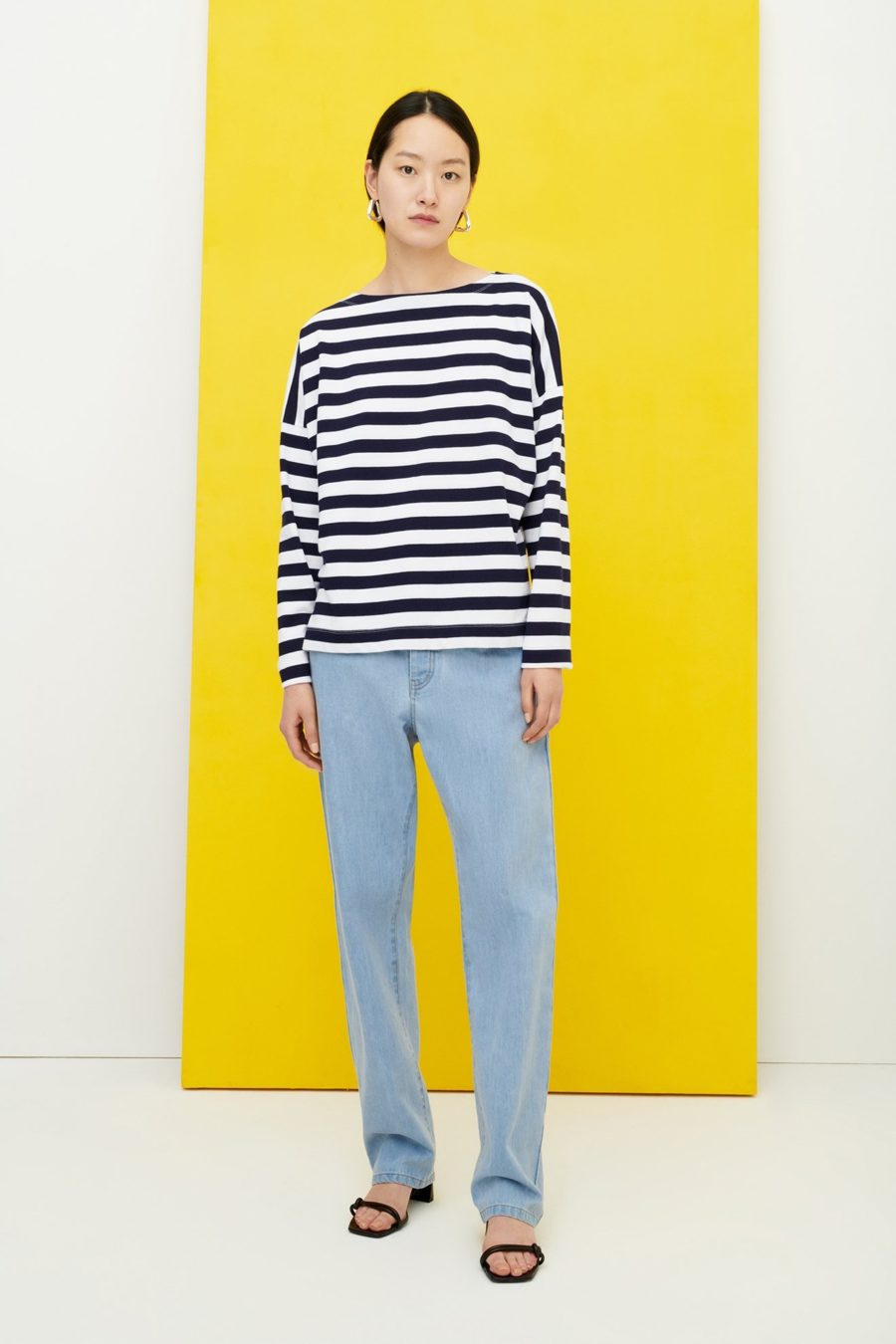 Kowtow - Breton Sweater, Navy Stripe