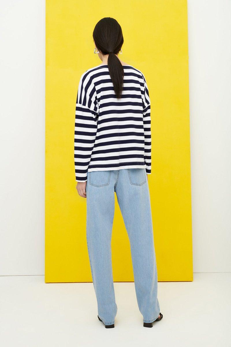 Kowtow - Breton Sweater, Navy Stripe