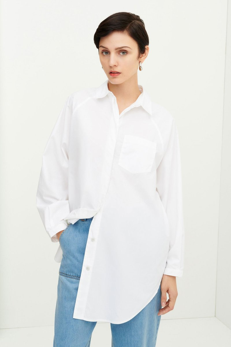 Kowtow - Oversized Shirt, White