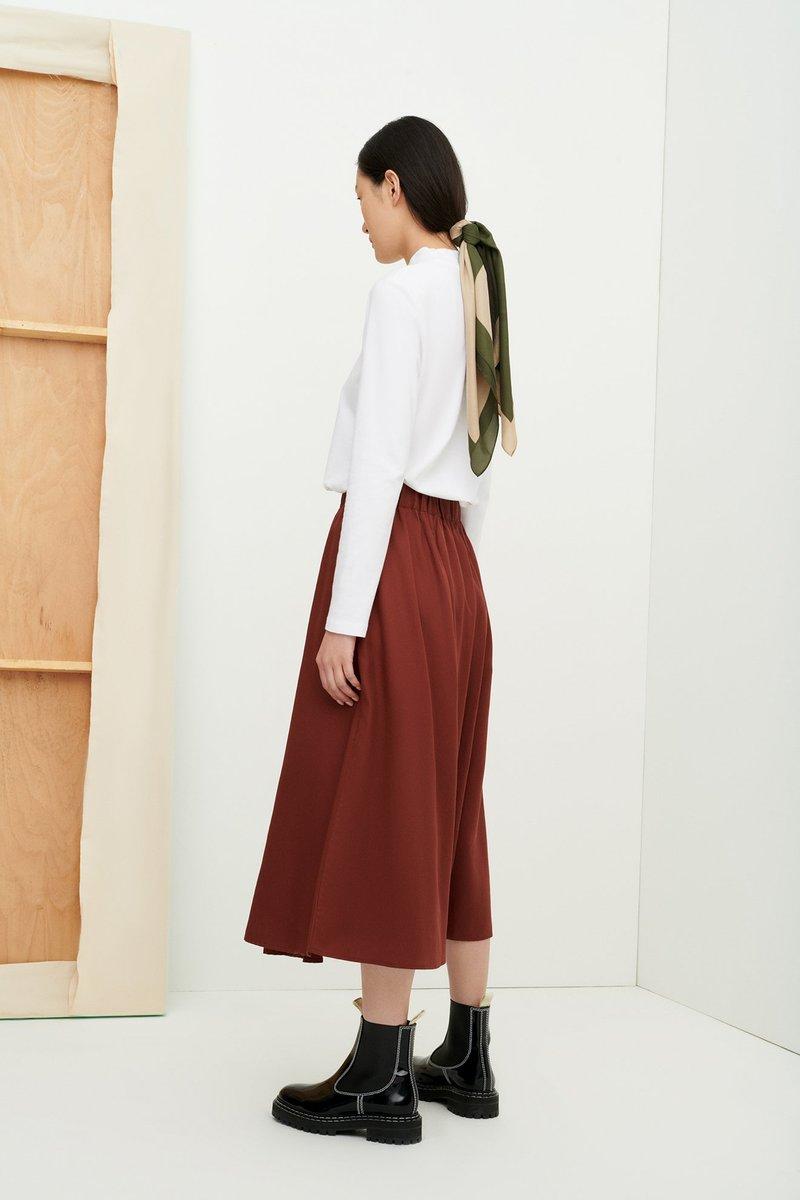 Kowtow - Writer Skirt, Mahogany
