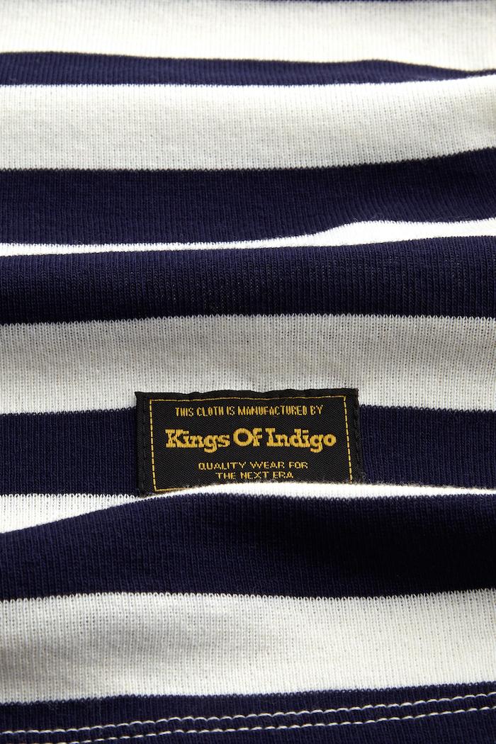 Kings of Indigo - Darius Tee, Navy Stripe