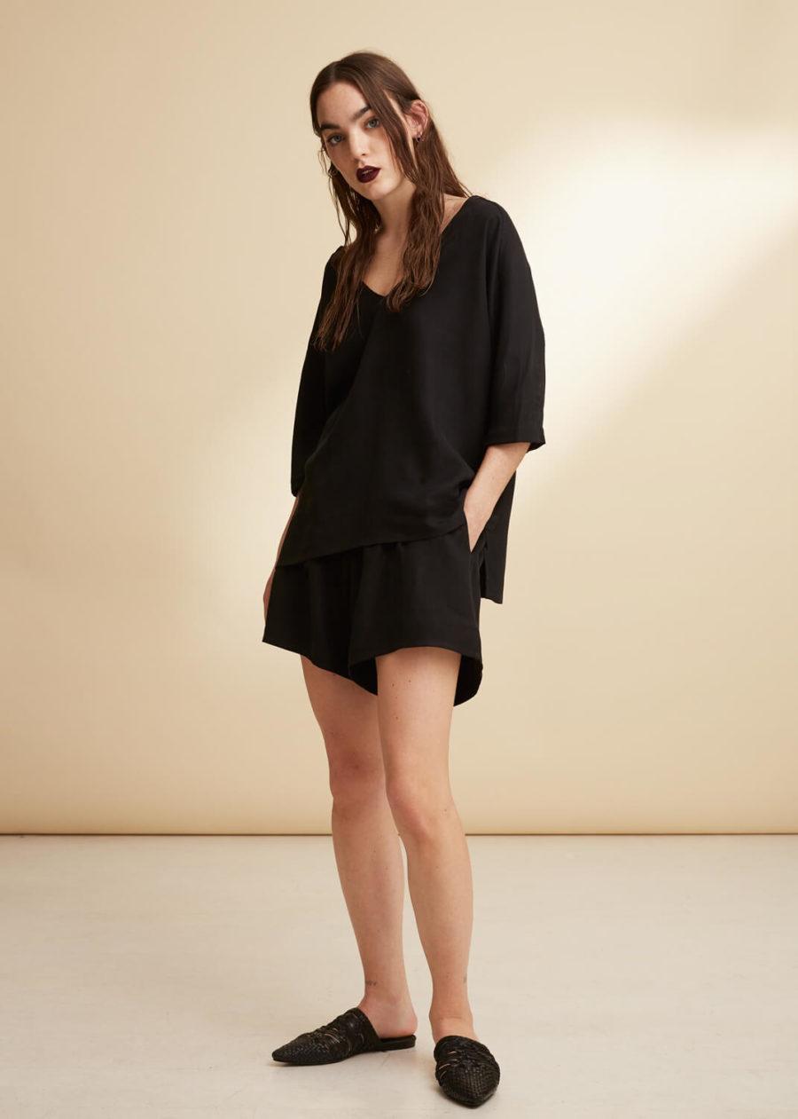 ORES - Black Silk Shorts