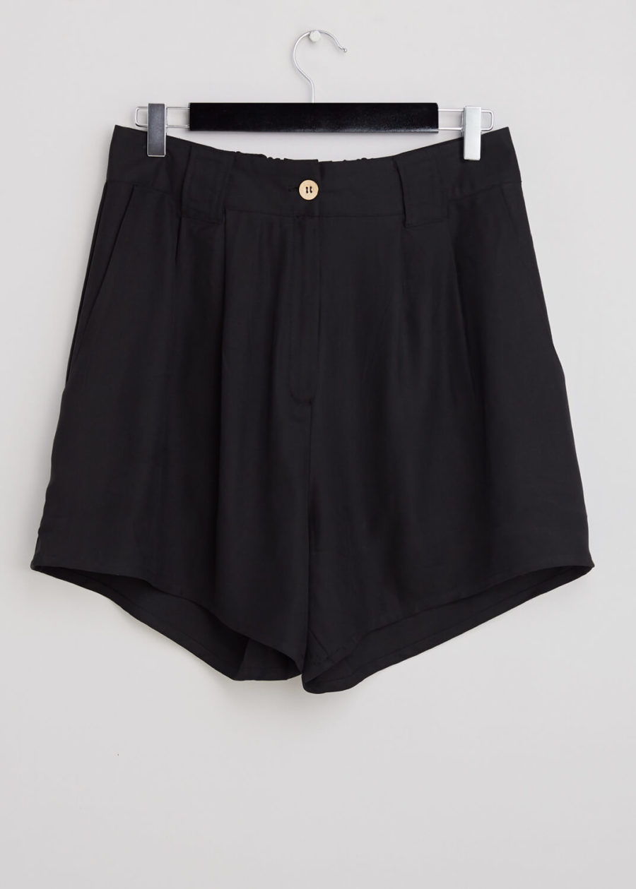 ORES - Black Silk Shorts