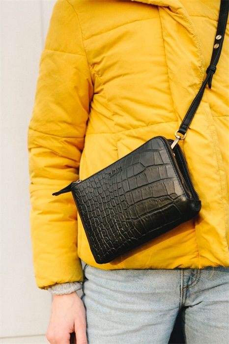 O My Bag - Lola Bag, Black Croco