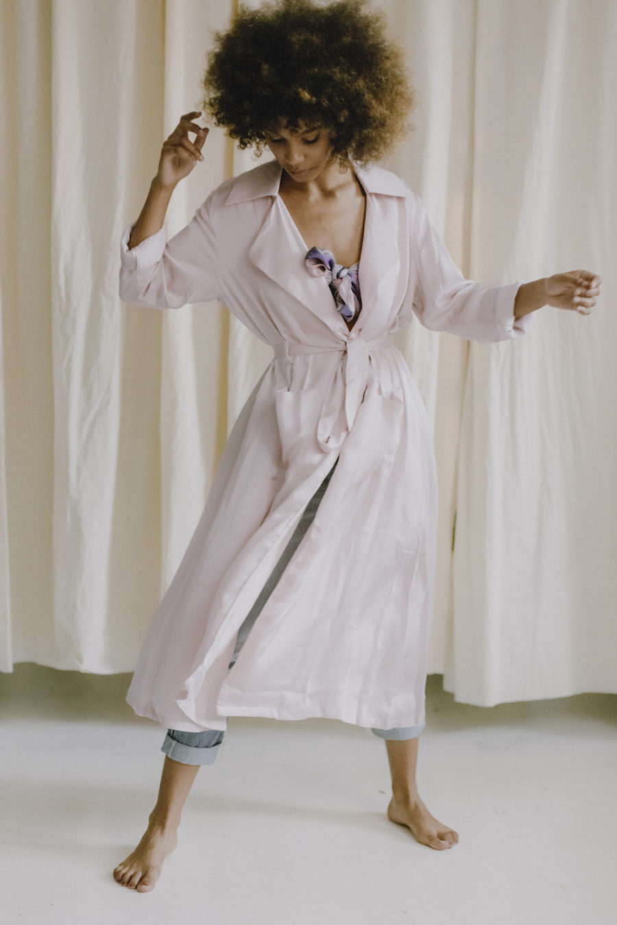 Cossac - Soft Trench Coat, Rose