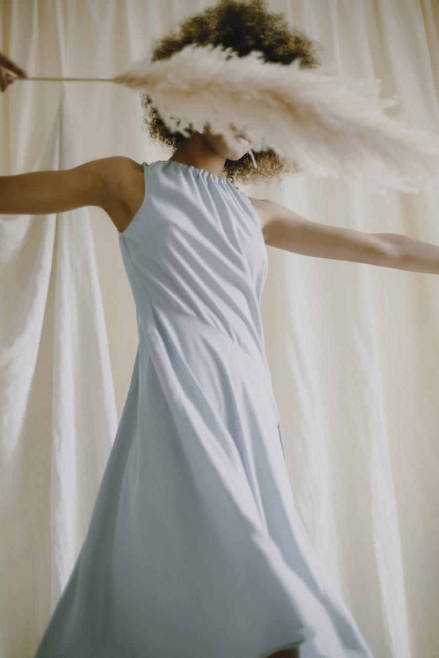 Cossac - Summer Dress, Blue Grey