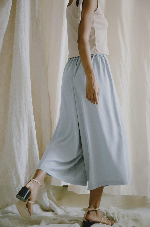 Cossac - Blue Grey Culotte Trousers