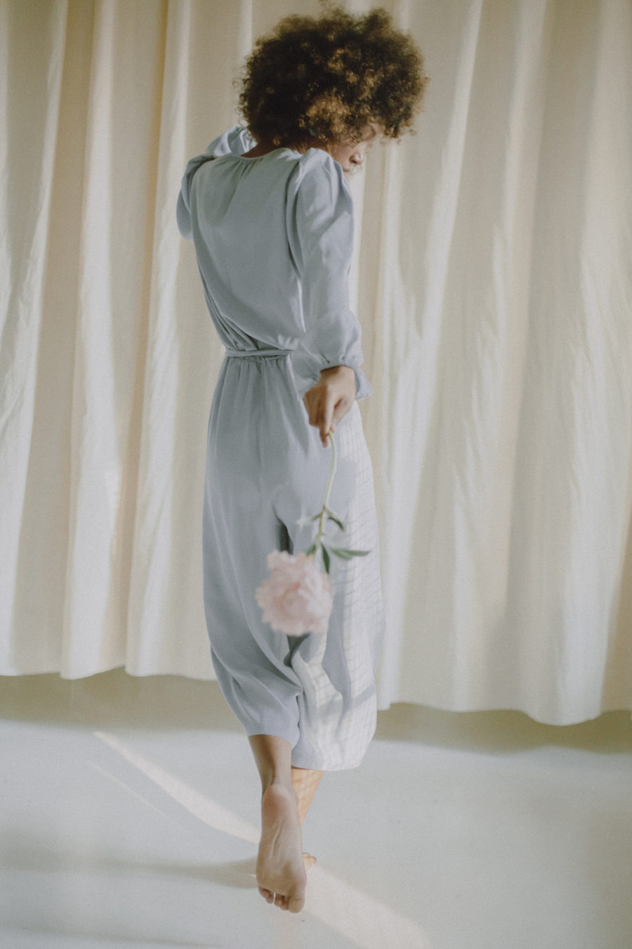 Cossac - Blue Grey Wrap Jumpsuit