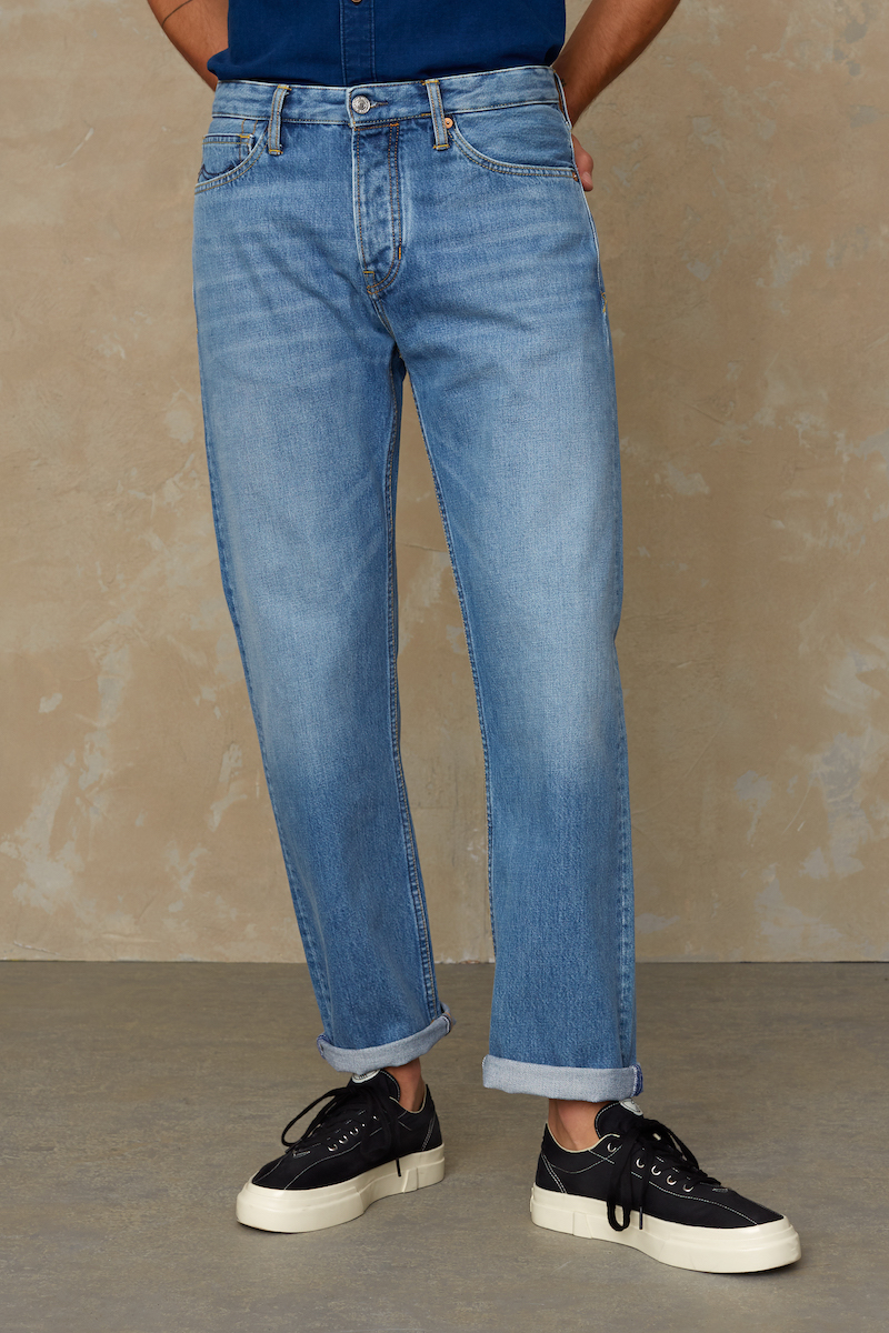 Kings of Indigo - Kong Relaxed Denim, Vintage Light Blue