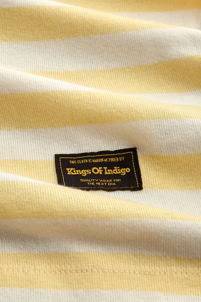 Kings of Indigo - Darius Tee, Sunlight Stripe
