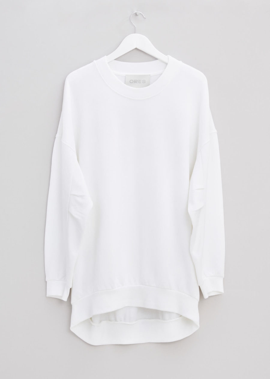 ORES - White Lux Jersey Sweater
