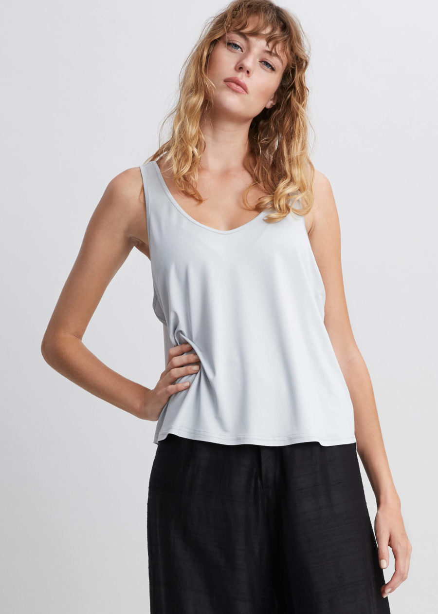 ORES - Grey Silk Tank